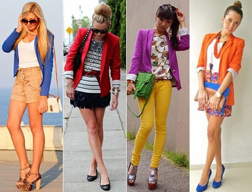 blazer colorido.