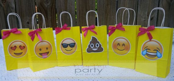 Emoji Birthday Party Supplies Emoji Treat Sacks by PixyPopParty