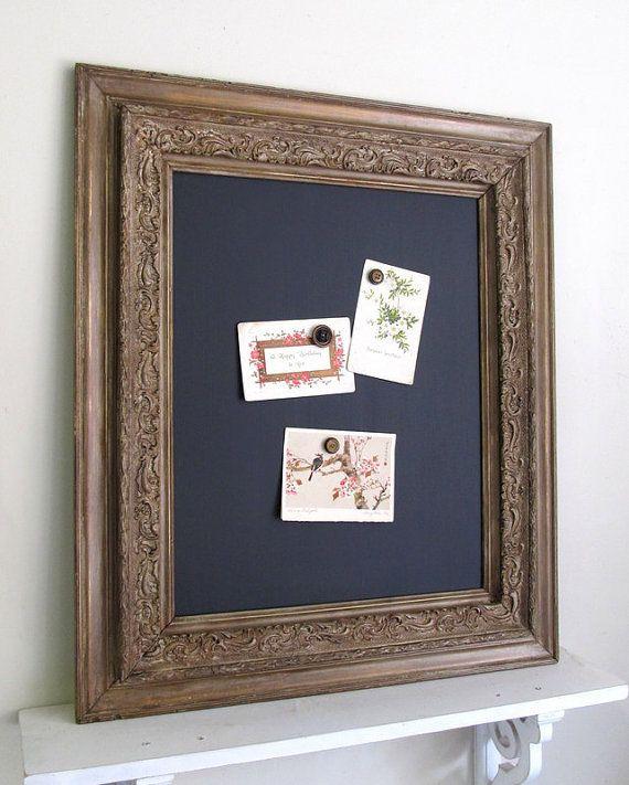 Framed Chalkboard Magnet Board Kitchen Black Board