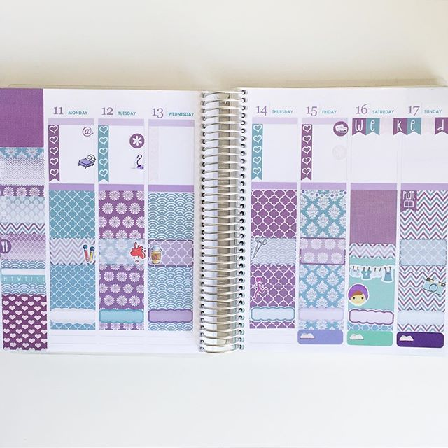 This week #beforethepen using the Plum, Blush and Teal kit from @elliebethdesignsuk  Really loving the colors and the patterns!