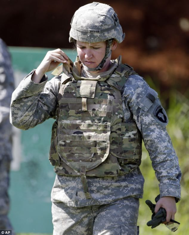 Shorter and more tailored for a better fit: Army reveals new body armor specially designed to make female soldiers more mobile and safer