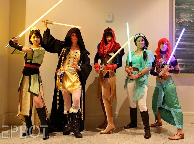 Jedi Disney Princesses! [EPBOT: Dragon Con '13: The Best Cosplay, Part 2!]