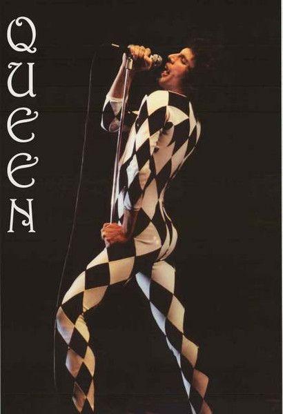 Queen Freddie Mercury Checkered Suit Music Poster 24x36 – BananaRoad
