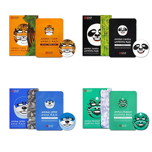 Animal Mask Sheet Tiger Panda Dragon Otter SNP 1/2/5/10/20/30pcs Free Shipping #SNP