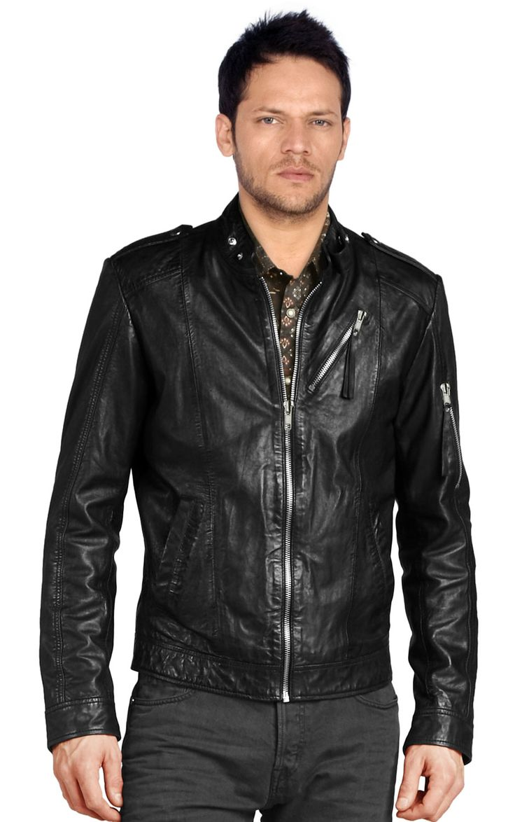 88 best Leather Biker Jackets For Men images on Pinterest | Mens ...