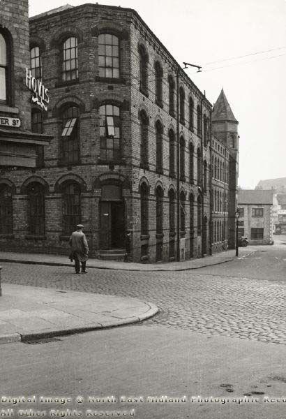 Looking Towards Carlton Road, Aberdeen Street, Nottingham, 1950