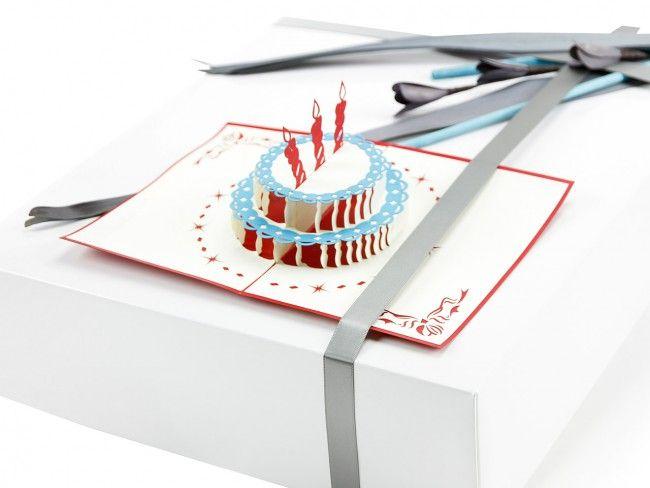 """3D Klappkarte """"Geburstagstorte"""" - Grußkarten - Mehr entdecken! - ideas in boxes - dekorierte Geschenkboxen"""