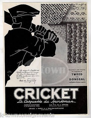 CRICKET TWEED SPORTS COATS VINTAGE 1930s GRAPHIC ADVERTISING POSTER PRINT