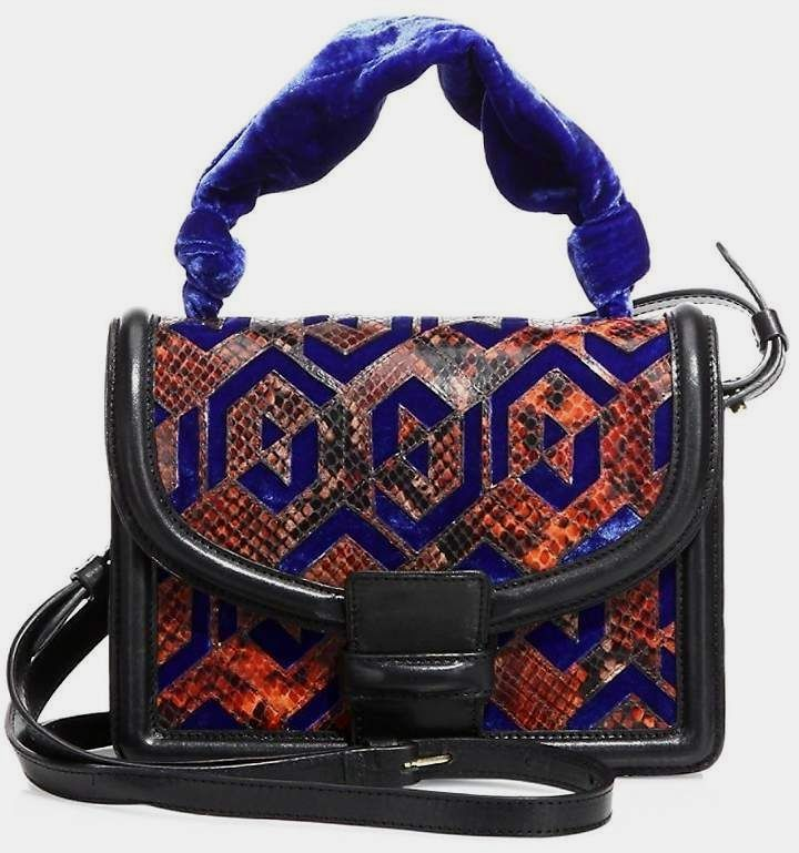 Dries Van Noten Women s Velvet   Python-Embossed Leather Shoulder Bag  leather  purses and 548edbe373cf9