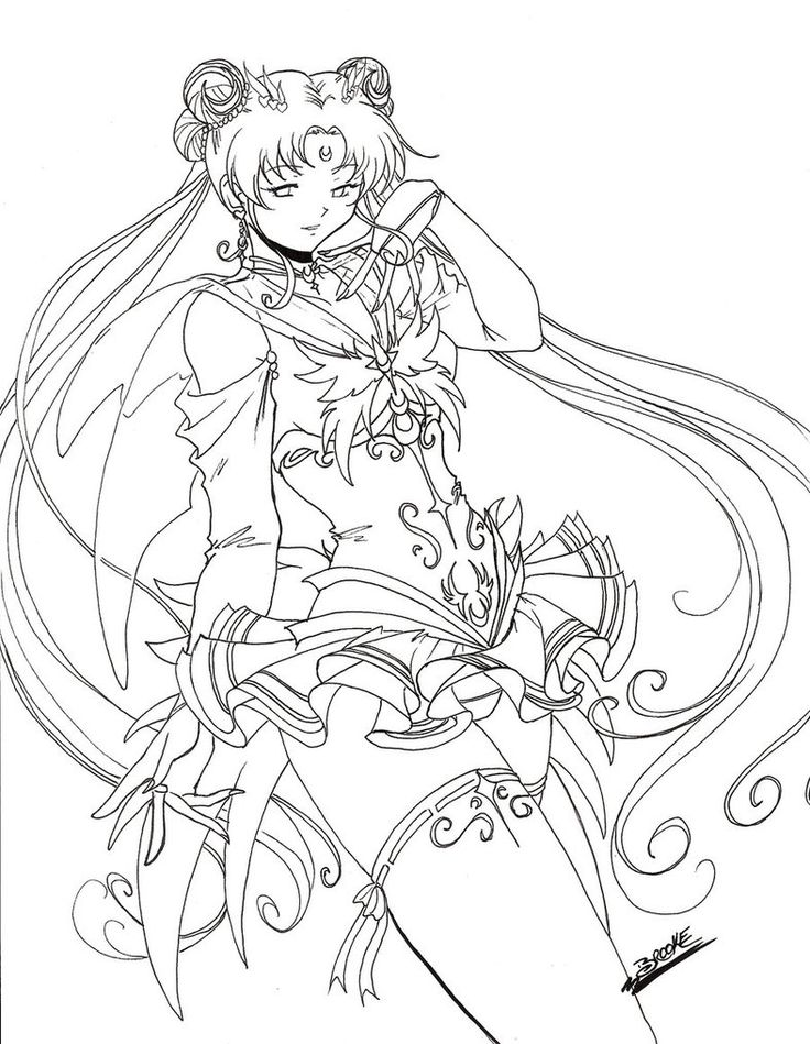 15 best coloring sailor moon images on pinterest sailor for Serenity coloring pages