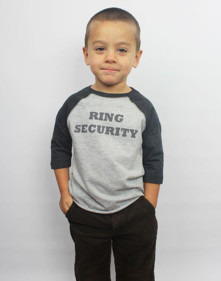"Ring Bearer ""Ring Security""  Shirt"