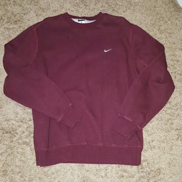 Nike Crew Sweatshirt Mens XL Maroon. Crew neck. Worn less than 5x. Size xl mens. Nike Sweaters