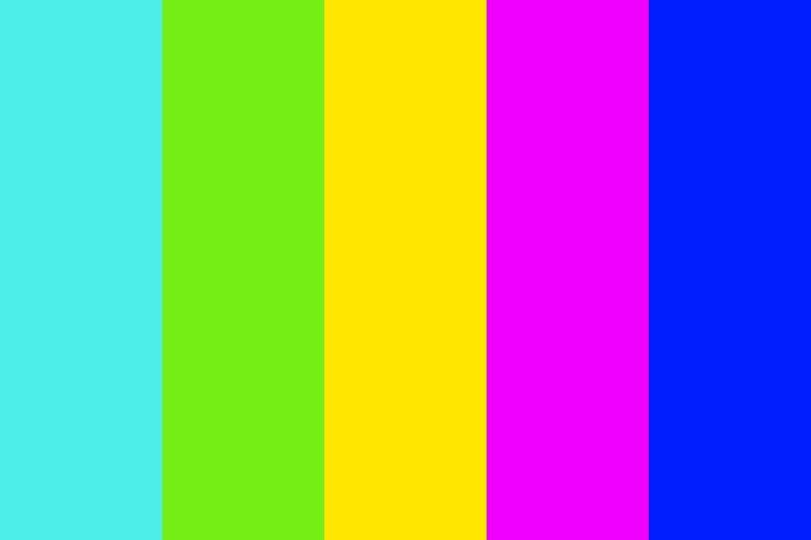 neon colors Color Palette