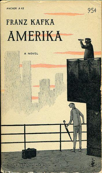 Amerika by Franz Kafka, cover illustration by Edward Gorey published 1955