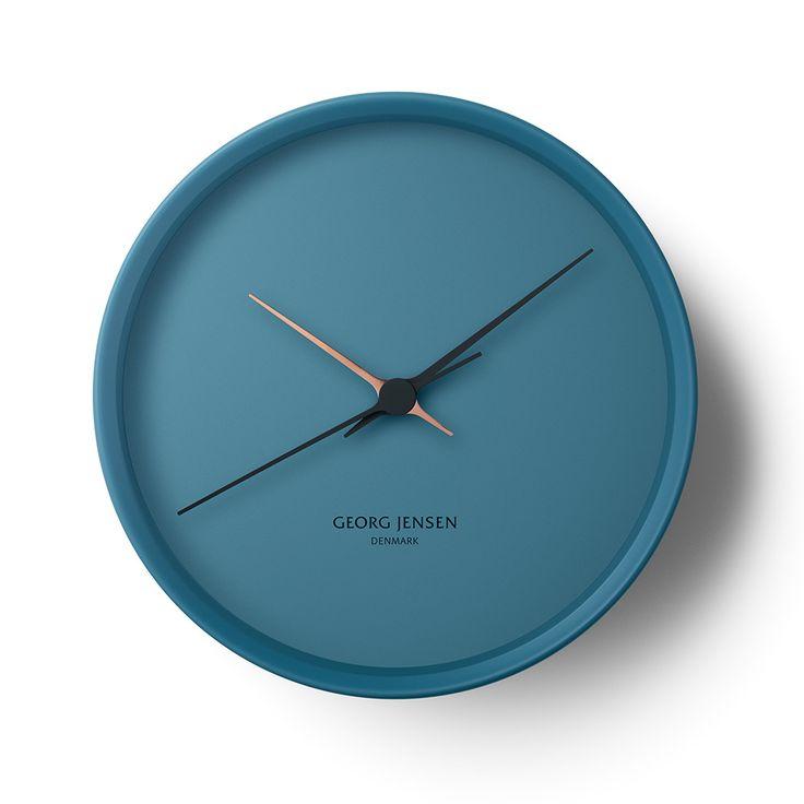 'hk wall clock - blue' by georg jensen