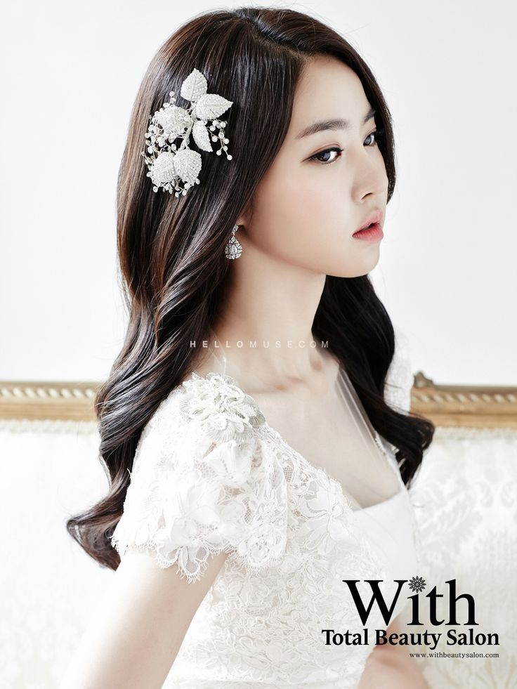With Beauty salon in Korea, Korean style wedding make-up, Korean wedding…
