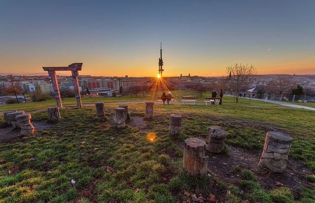 Západ Slunce nad Prahou