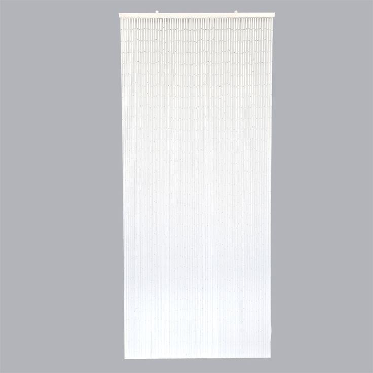 Rideau de porte Stick Bambou Blanc - Rideau de porte - Eminza