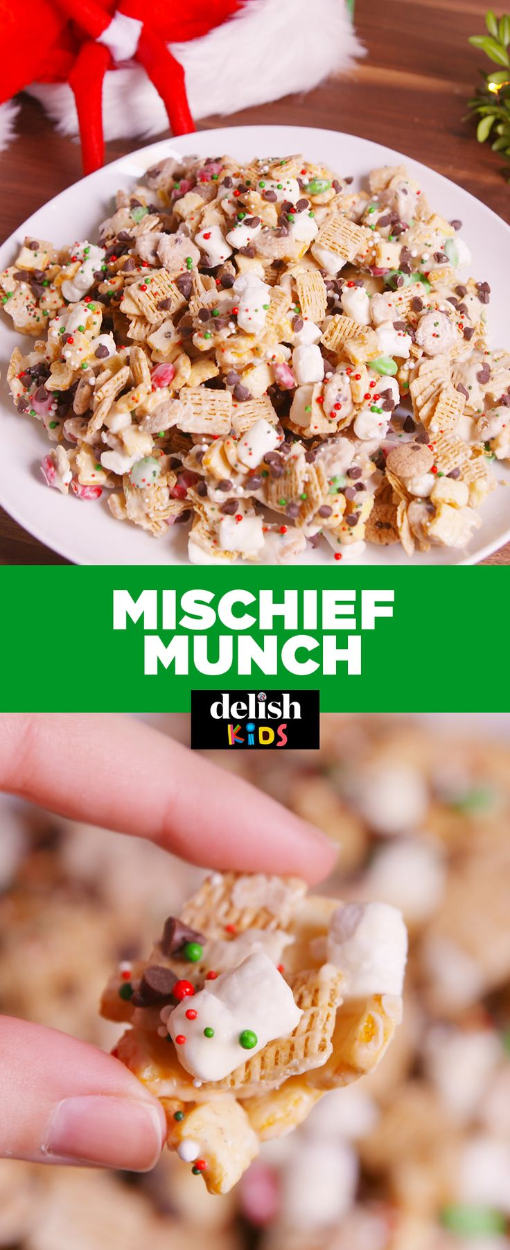 Watch out — this Mischief Munch will disappear before it even makes it to the table. Get the recipe at Delish.com.