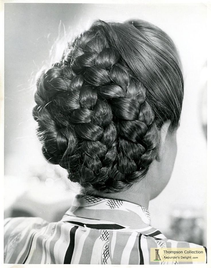 braided vintage hair