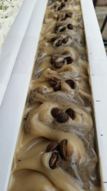 """Big Island Coffee"" soap from SapoVela. Made with organic coffee beans grown in Hilo Hawaii."