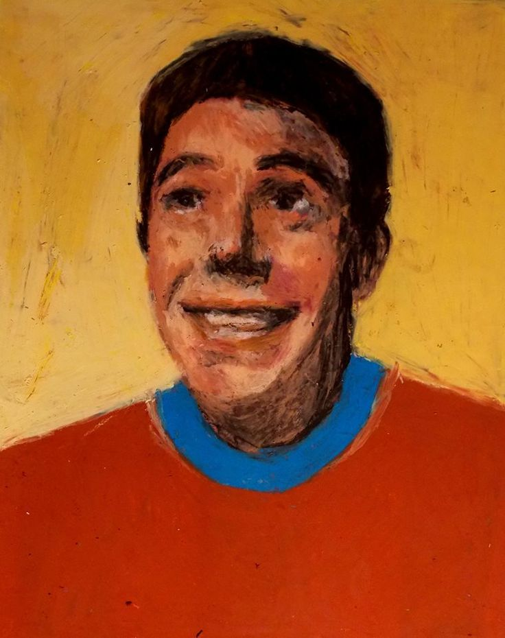 ritratto pastelli ad olio su carta 40x45circa,2017 Lisa Cutrino