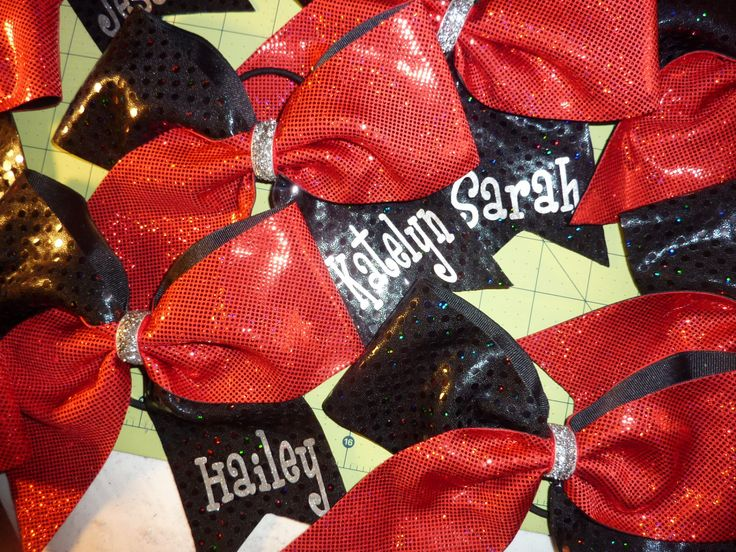 Black and Red Holographic Tick Tock Cheer Bow * Personaized ~ Team ~ You Pick Colors by TheCheerBowBabe on Etsy