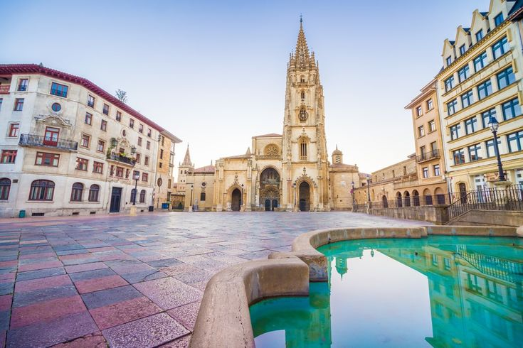 Where to go in Spain The Cathedral of Oviedo, Spain, was founded by King Fruela I of Asturias in 781 AD and is located in the Alfonso II square.