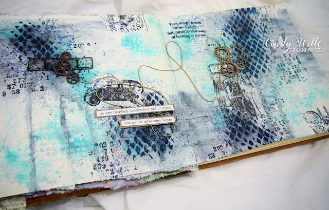 Hi everybody,  Today I'd like to show you a journal page I've created. As you may know I'm not that confident about journal ...