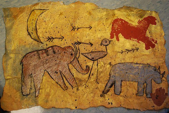Cave paintings by paintedpaper, via Flickr
