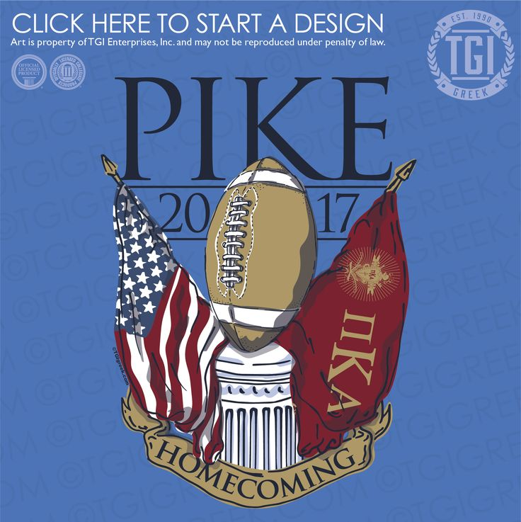 Pi Kappa Alpha | ΠKA | Pike | Game Day | Homecoming | TGI Greek | Greek Apparel | Custom Apparel | Fraternity Tee Shirts | Fraternity T-shirts | Custom T-Shirts