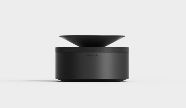 An inverted audio-dispersing cone pops out to produce 360-degree wireless sound, hides away into a cylinder base for easy and protected transport.