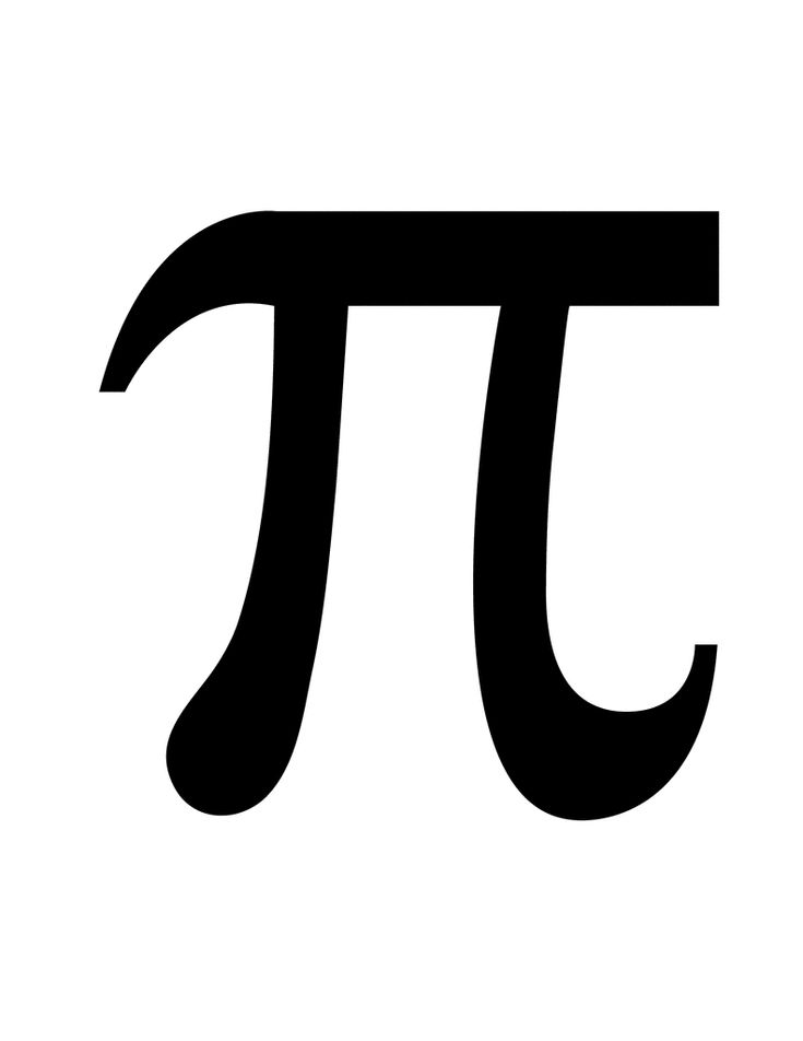 Pie symbol Clip Art | Flashcard of a math symbol for Pi for the pie day shirts with the pictures of pie