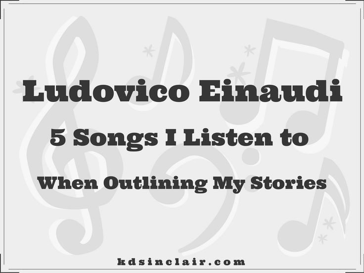 I often listen to calm, relaxing music when it's time to outline a new story. It helps me come up with ideas as well as offer inspiration for scenes to add to the story. In this post I'll share my favorite pieces from Ludovico Einaudi.