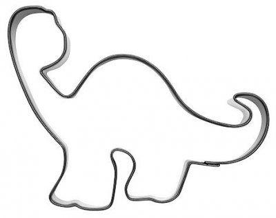 Dino cookie cutter - Ausstechform Dino -  pepparkaksform dinosaurie Långhals
