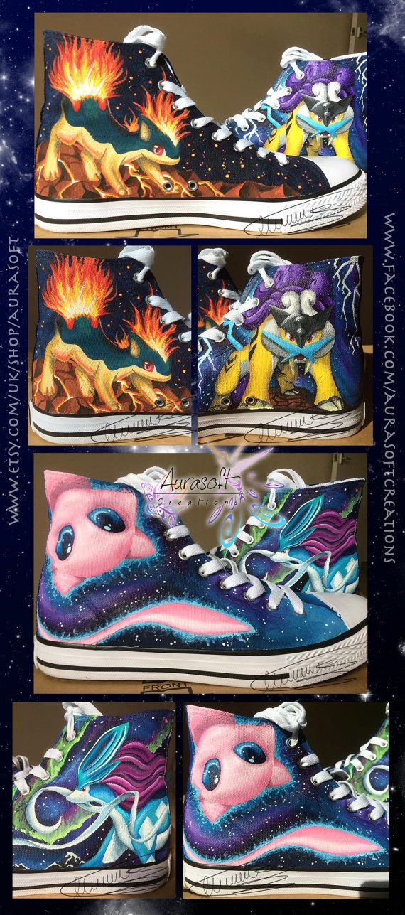 Custom Painted Hi Top Pokemon Shoes (ALL FOUR SIDES)