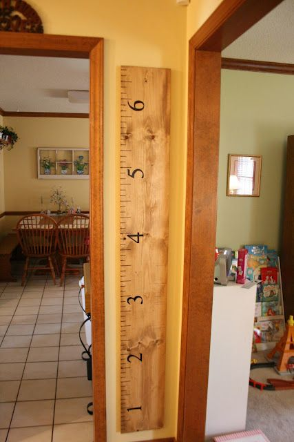 great measuring 'stick' - if you move or repaint, you won't lose all those precious measurements