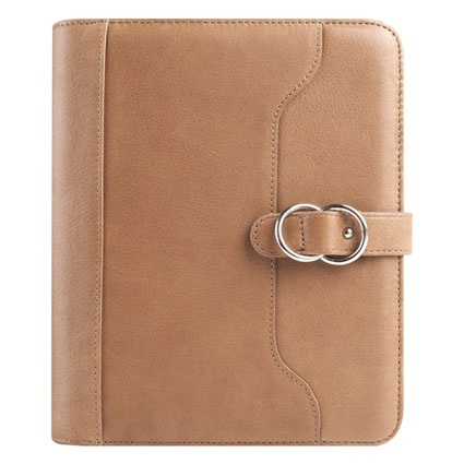 Veronica Leather Snap Binder.  Comes in all the soft colors of our Veronica Leather Tote collection.