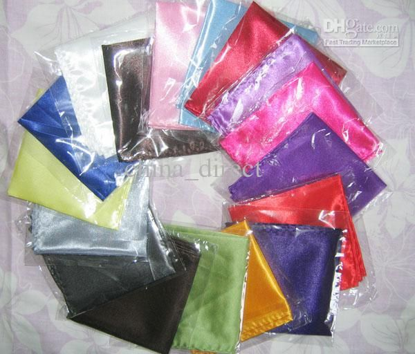 Wholesale Mens Plain Satin Hanky Wedding Party Suit Handkerchief 1547, Free shipping, $0.6-0.76/Piece | DHgate