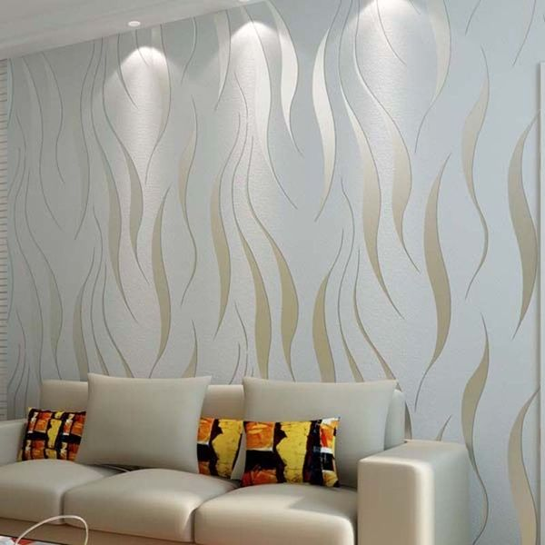 High Quality Modern 3d Wallpaper Damask Textured Wall Paper Wallcovering For Living Room Bedroom Tv Sofa Backgroumd Home Wallpaper Wallpaper Living Room Wall Decor Bedroom #textured #wall #in #living #room