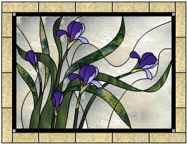 Sweet Iris Stained Glass Pattern from Glass Pattern Source