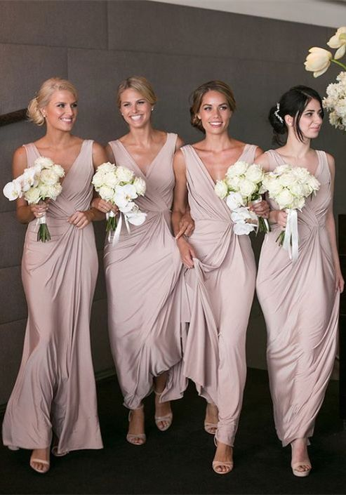 Blush Dresses Bridesmaid 2017 Long