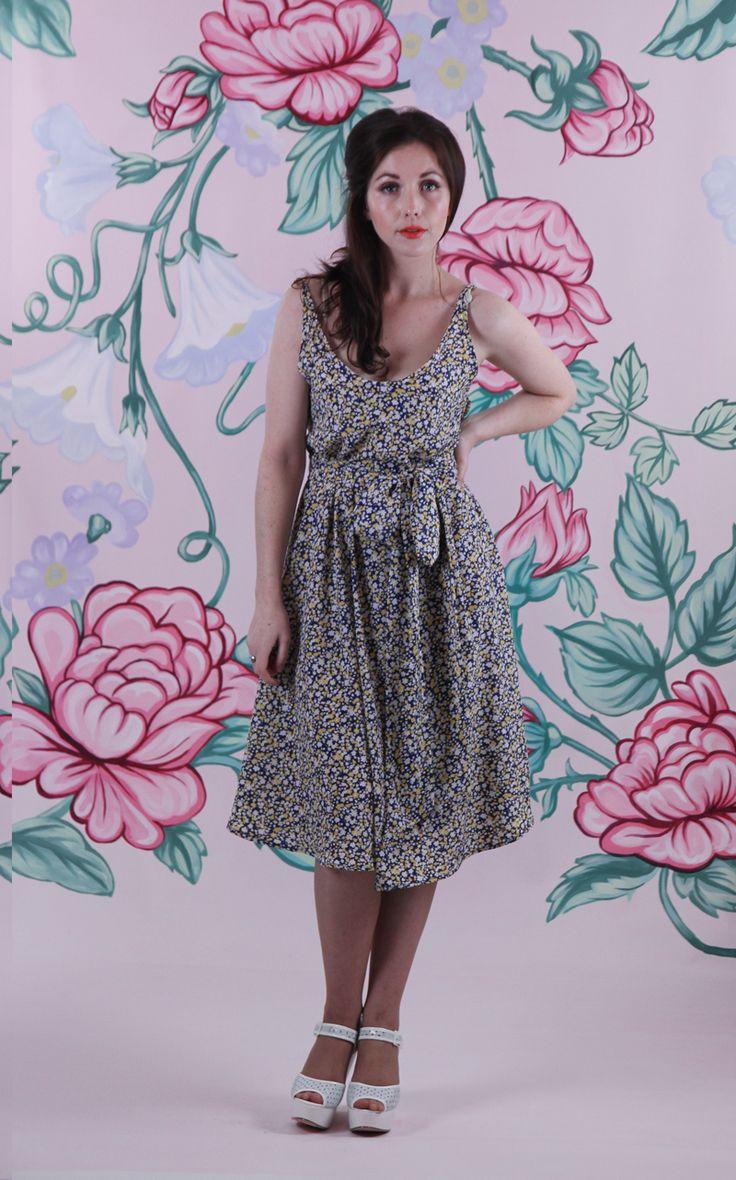 Harriett Falvey - Forget-Me-Not Dress - Blue/Yellow