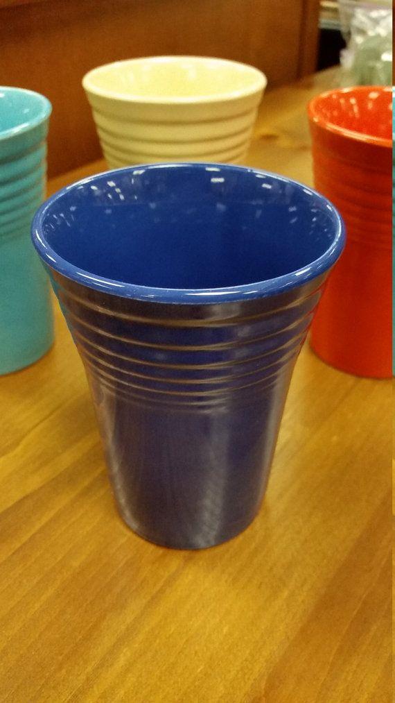 Original Fiesta Fiestaware water tumbler cup by JackieOsGallery