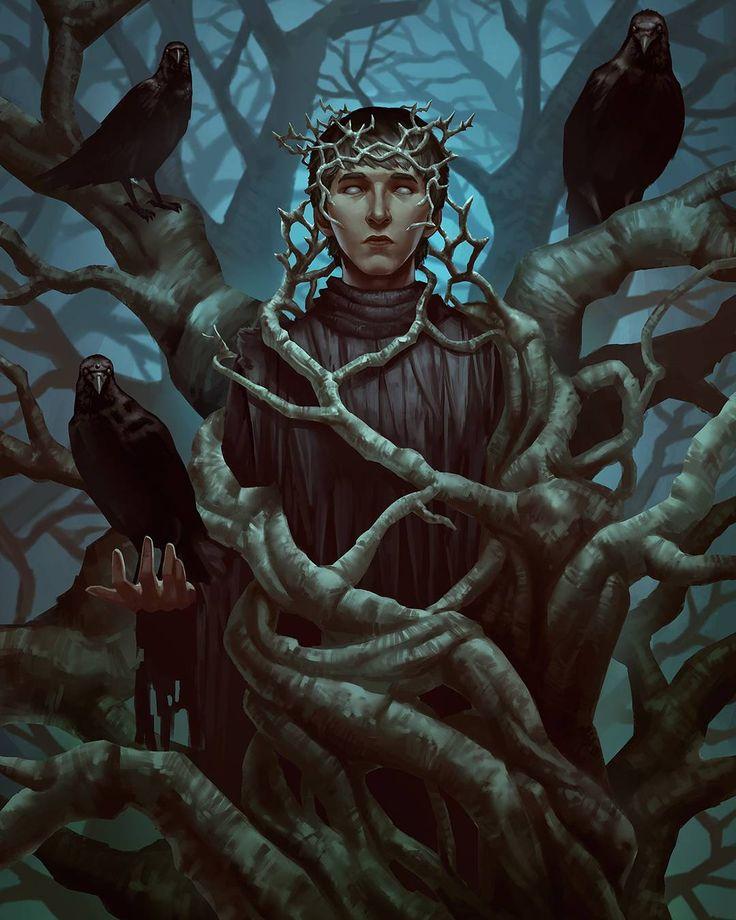 "Game of Thrones Fanart ""The Three-Eyed Raven"" - by @fredrickruntu"