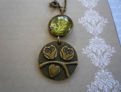 Owls Under Paisley Necklace