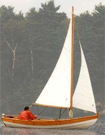 The Lowell Sailboat from Lowell's Boat Shop in Amesbury, Massachusetts. www.lowellsboatshop.com