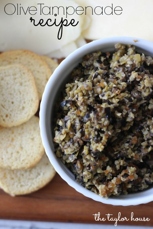 easy appetizers, olive tampenade, olive recipes