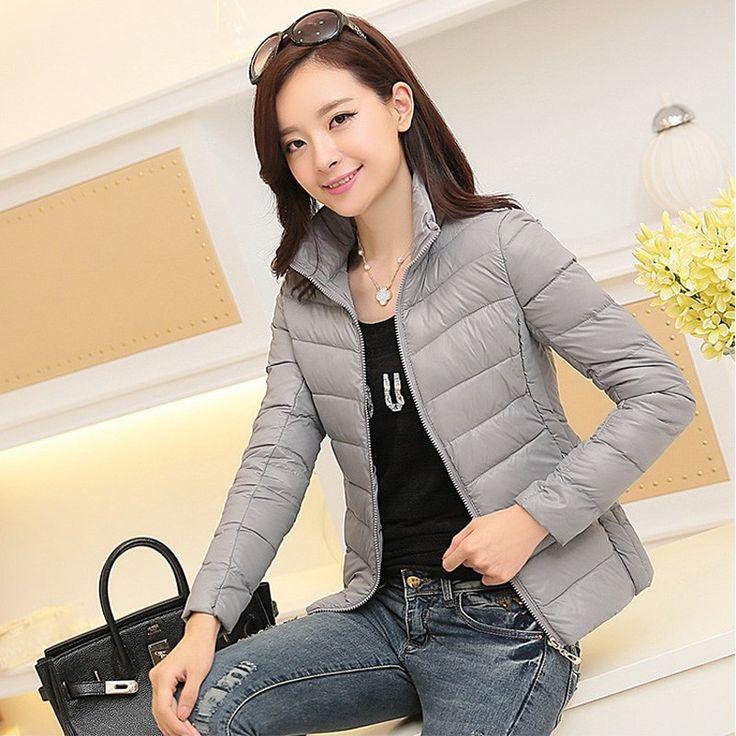 <b>winter</b> 2018 ultra light jacket women large size Korean Slim padded ...