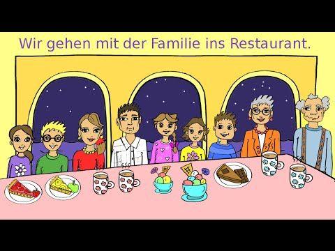 Ein einfaches Video für Kinder und Anfänger, um Vokabular und erste Sätze zum Thema Familie und Restaurant zu lernen. Wichtige Wendungen sowie die Konjugatio...